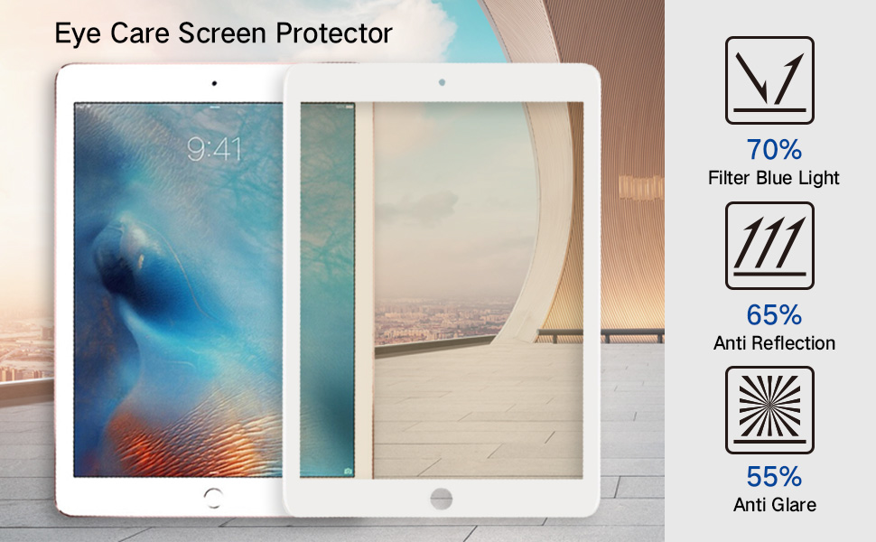 eye care ipad screen protector - matte antiglare premium edition