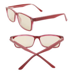 Burgundy blue light blocking glasses other angle