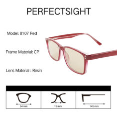 Burgundy blue light blocking glasses specification