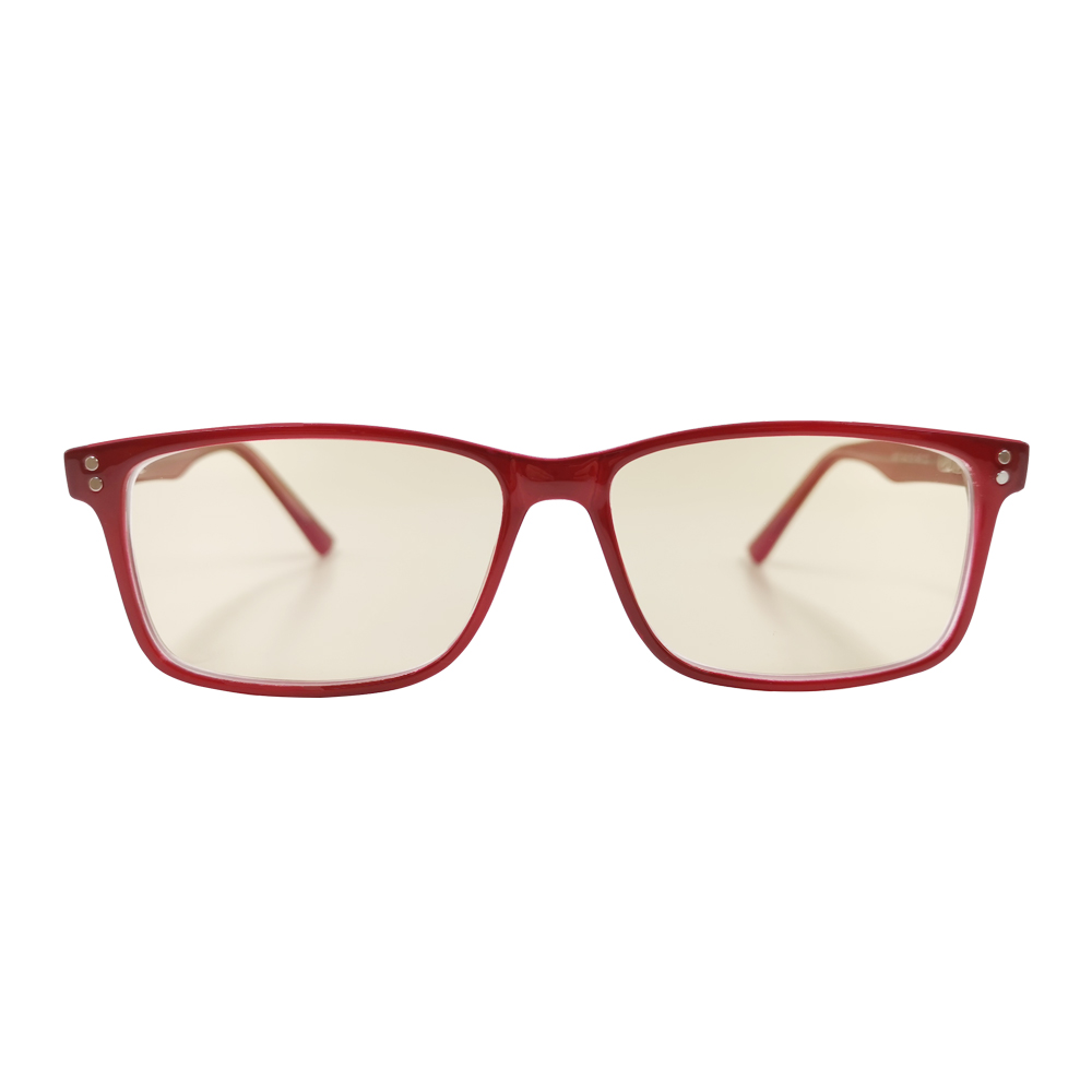 Burgundy blue light blocking glasses front