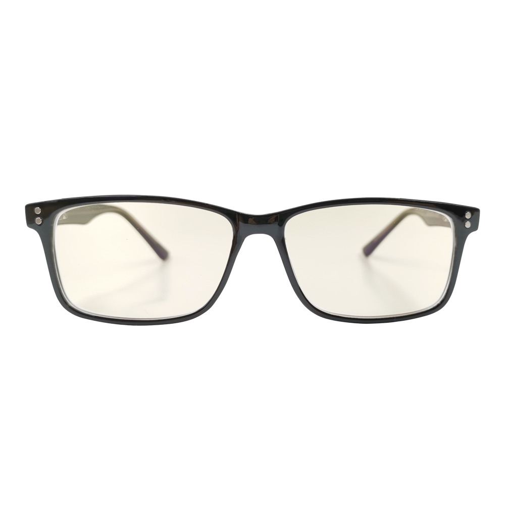 black blue light blocking glasses front