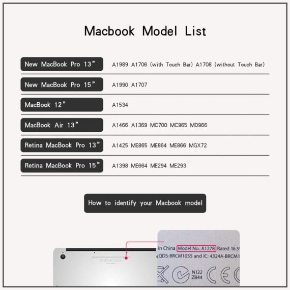 macbook model list