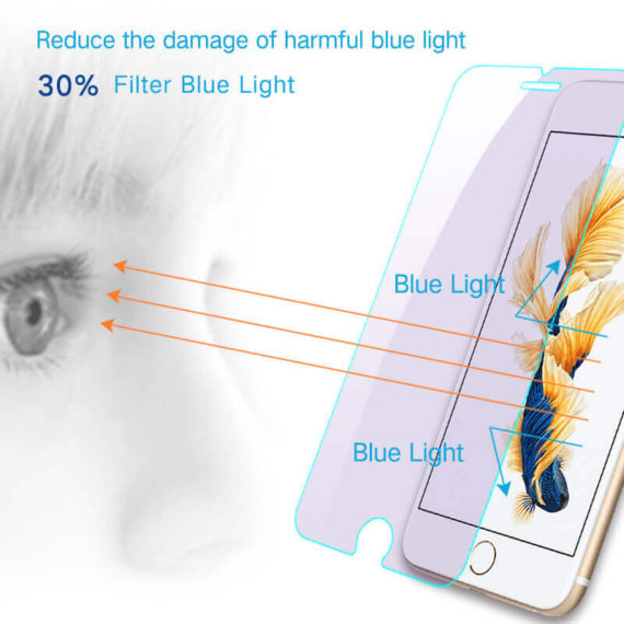 30% blue light blocking effect for iPhone