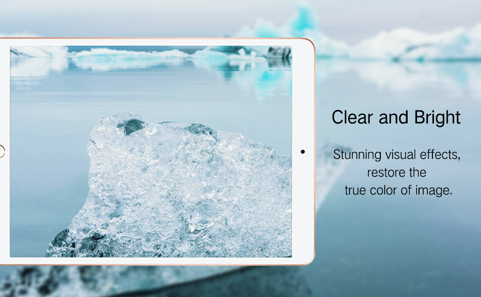 High Definition clear effect and blue light wavelength for iPad pro 9.7 air tempered glass hd clear primary edition