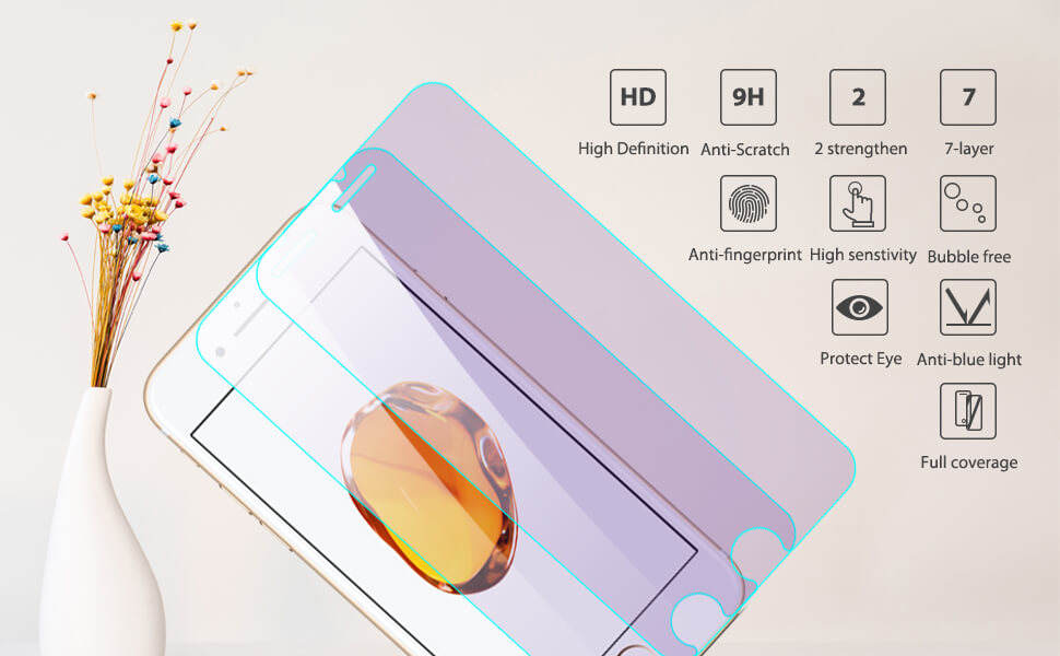 additional function for iPhone eye care screen protector
