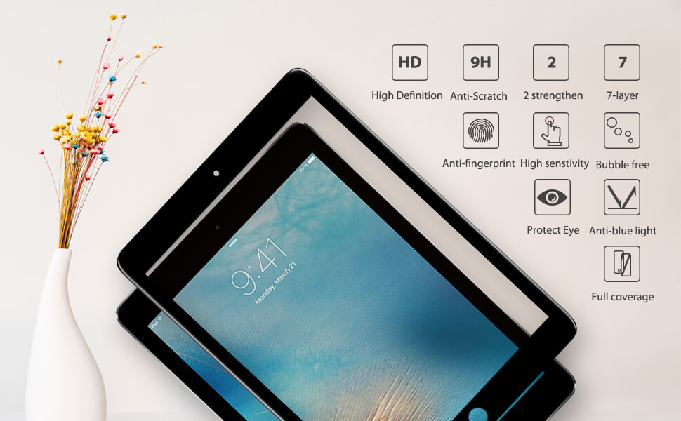 additional performance for iPad air 2 tempered glass hd clear premium edition