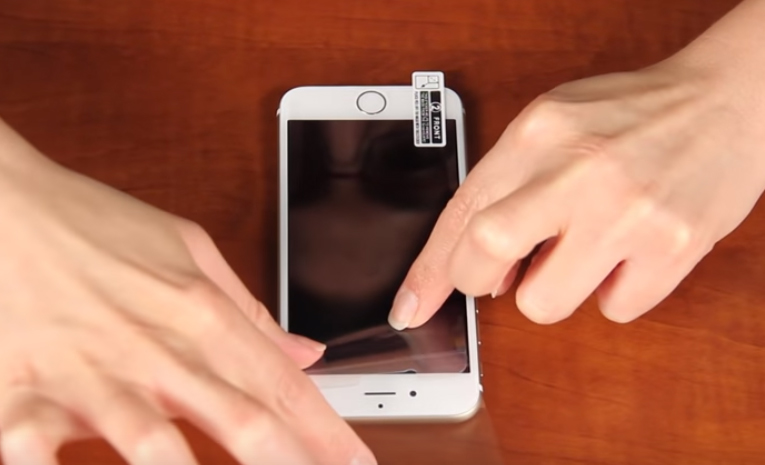 Adjust the position of the whole screen protector