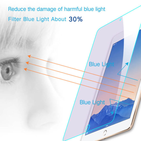anti blue light effect for iPad pro 9.7 air tempered glass screen protector hd clear primary edition