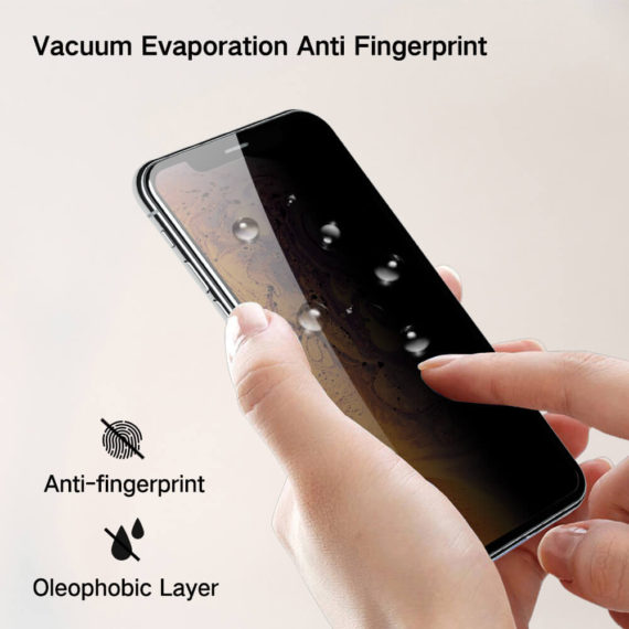 anti fingerprint effect for iPhone X series glass screen protector