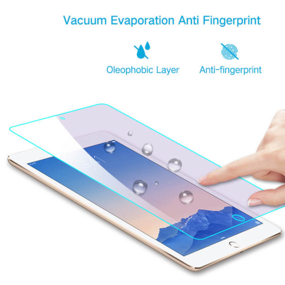 anti fingerprint smudge effect for iPad pro 9.7 air tempered glass screen protector hd clear primary edition