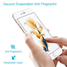 anti fingerprint smudge effect for iPhone