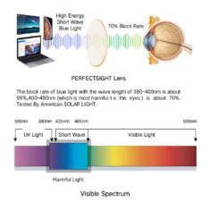 blue light blocking glasses visible spectrum