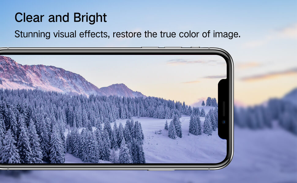 high definition clear effect for iphone privacy glass screen protector