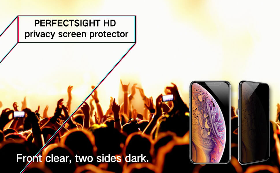 high definition clear privacy effect for iphone screen protector