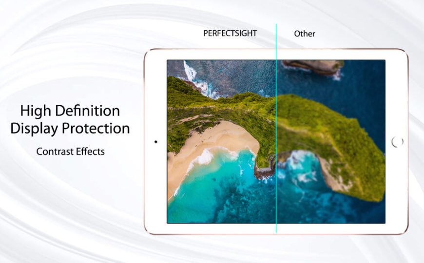hight definition clear effect for iPad air 2 9.7 air tempered glass screen protector hd clear premium edition