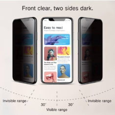 iphone x series HD clear privacy anti spy effect