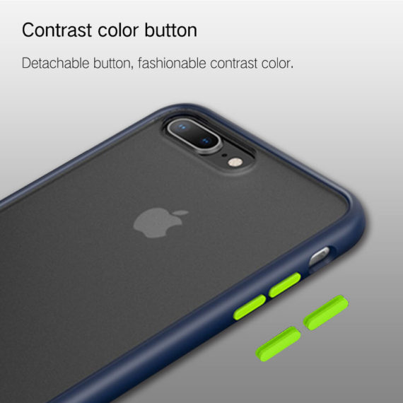 contrast color button for iphone 7 8 series phone case