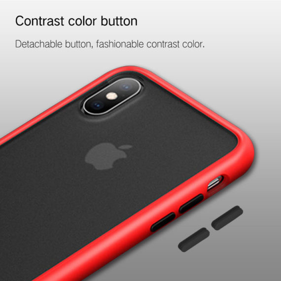 fashionable contrast color responsive button for iPhone xs x 10 phone case