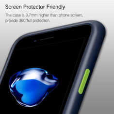 iPhone 7 8 series phone case fit screen protector friendly