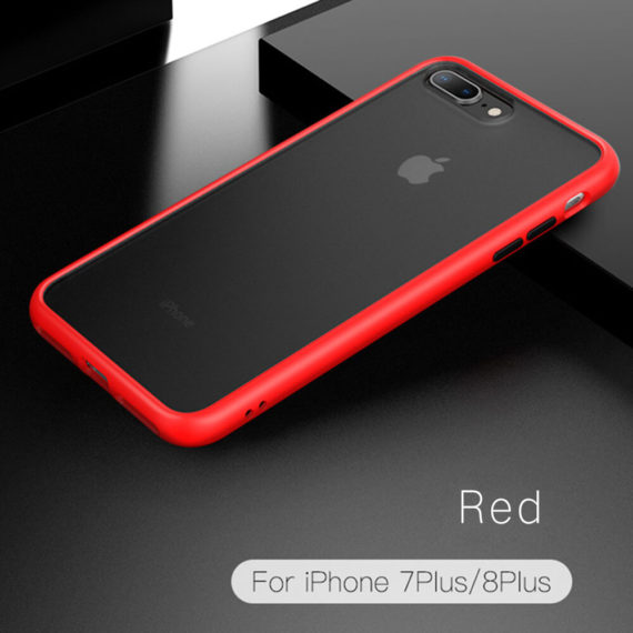 iPhone 7 Plus 8 Plus Phone Case, Drop Protection red