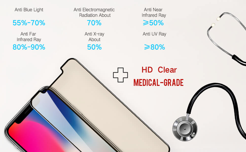main functions for iPhone 11 X series hd clear medical grade screen protector