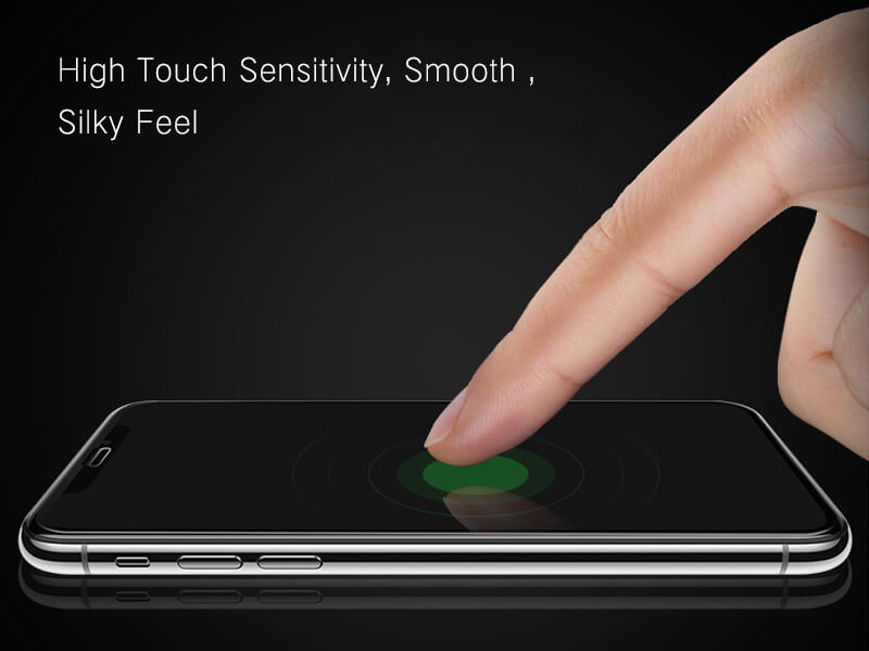 high touch sensitivity, smooth, silky feel