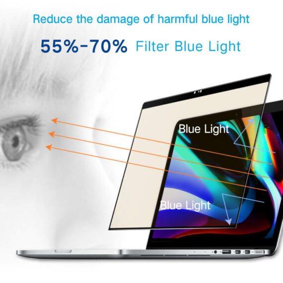 anti blue light effect for macbook pro 16 inch screen protector - medical edition