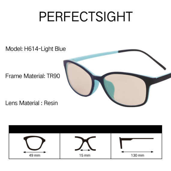 Kids blue light blocking glasses H6141 parameter