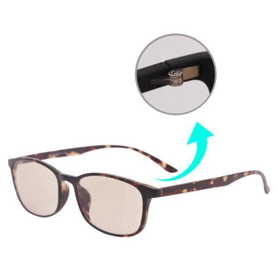 blue light filering glasses 1039 floral brown details