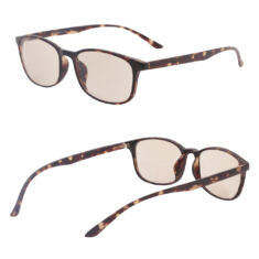 blue light filering glasses 1039 floral brown side