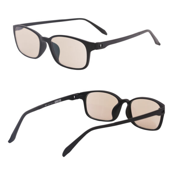blue light protection glasses 5001 black multi angles side