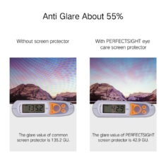 Anti Glare Effect for PERFECTSIGHT eye care matte screen protector